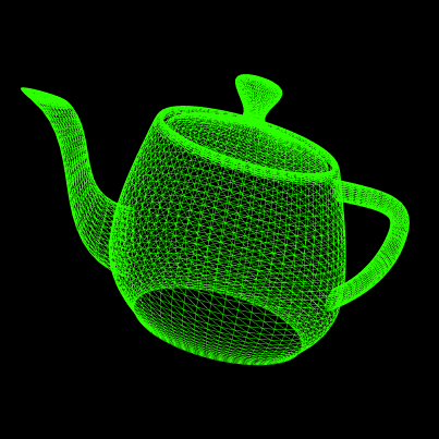 Wireframe of the Utah Teapot